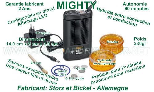 Toutes les fonctionnalités et les spécificités du vaporizer portable Mighty