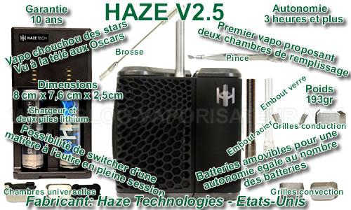 Haze V2.5 - les caractéristique, les avantages et les bémols