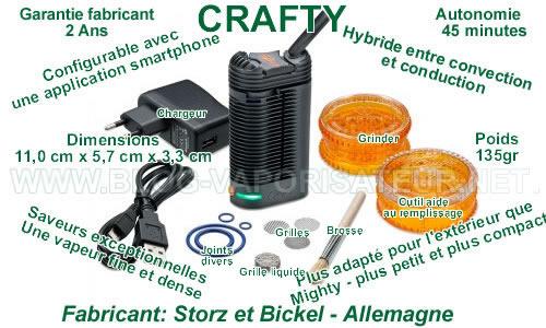 Toutes les principales caractéristiques du vaporizer portable Crafty