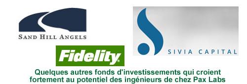 Tous les principaux investisseurs dans le lancement commercial des produits Pax Labs