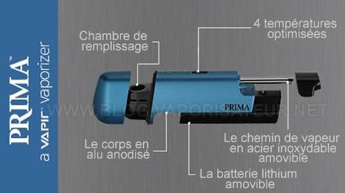 Le détail des avantages que propose le vaporizer mobile Prima de Vapir Inc
