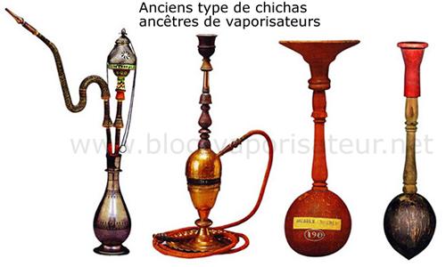 Les chichas étaient les premiers types de vaporisateurs