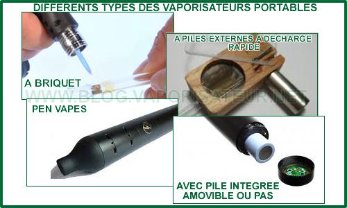 Tous les types de vaporizers portatifs