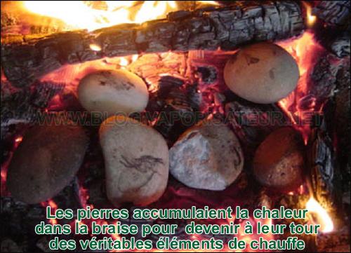 Les pierres brûlantes au service de la vaporisation